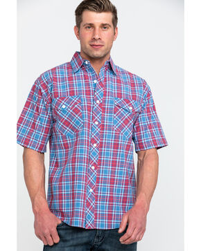 Resistol Men's Yosemite Small Plaid Short Sleeve Western Shirt , Multi, hi-res