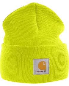 Carhartt Men's Acrylic Watch Hat, Lime, hi-res