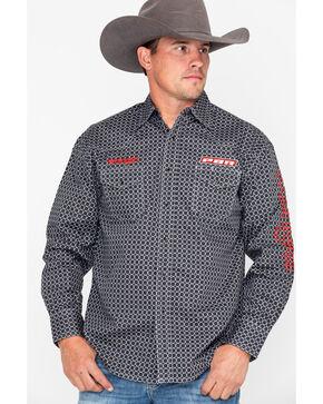 Wrangler Men's PBR Logo Long Sleeve Shirt , Black, hi-res