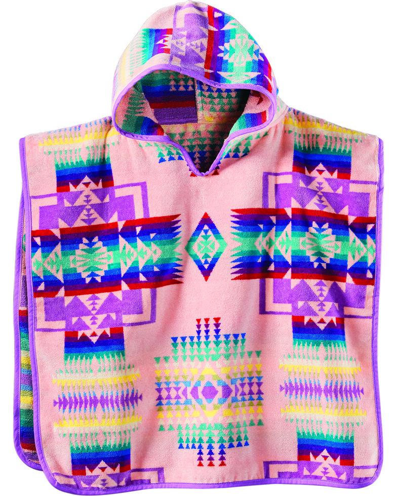 Pendleton Kids' Jacquard Hooded Towel, Pink, hi-res