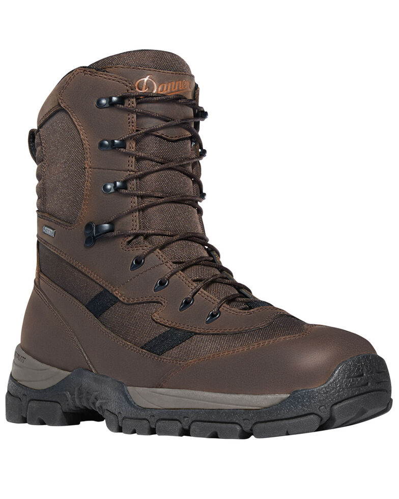 "Danner Men's Brown Alsea 8"" Lace Up Waterproof Boots - Round Toe, Brown, hi-res"