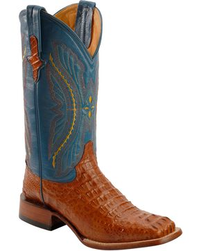 Ferrini Men's Caiman Crocodile Exotic Western Boots, Cognac, hi-res