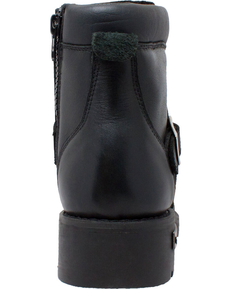 "Ad Tec Men's 6"" Lace Zipper Biker Boots - Round Toe, Black, hi-res"