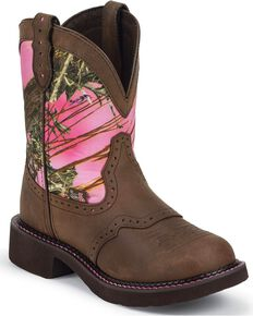 Justin Women's Gypsy Western Boots, Aged Bark, hi-res