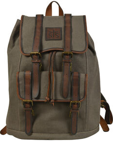 STS Ranchwear Foreman Dark Canvas Backpack, Olive, hi-res