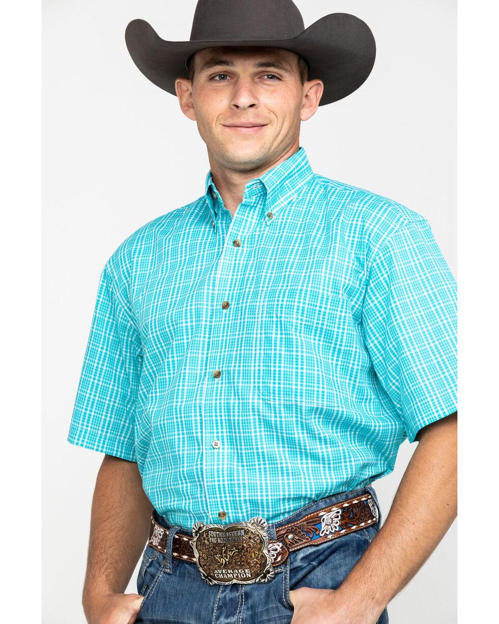 Wrangler Riata Men's Plaid Short Sleeve Western Shirt, Multi, hi-res