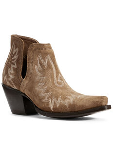 Ariat Women's Dixon Dijon Fashion Booties - Snip Toe, Beige/khaki, hi-res