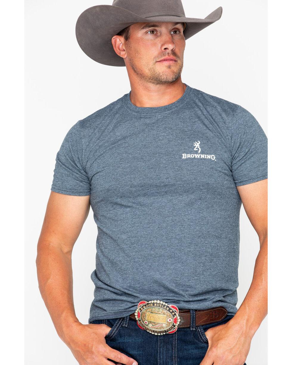 Browning Men's Vintage Flag Print T-Shirt , Black, hi-res