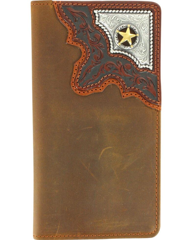 Cody James® Men's Cowboy Way Wallet and Checkbook Cover, Brown, hi-res