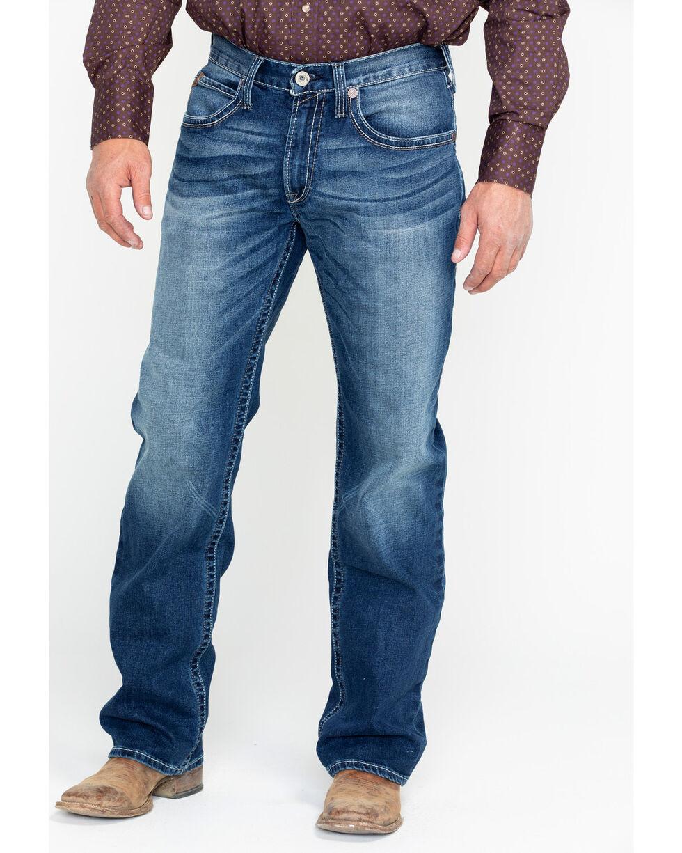 Ariat Men's M4 Cinder Brady Mid Wash Boot Jeans , Blue, hi-res