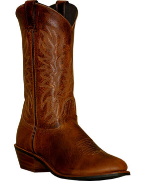 Abilene Sage Dark Brown Cowboy Boots - Round Toe, Brown, hi-res