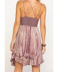 Free People Women's Tie Dye Adella Slip Dress , Grape, hi-res