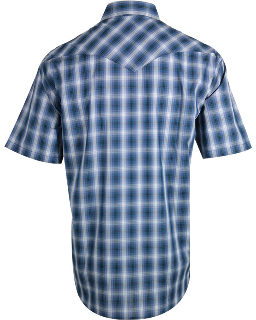 Pendleton Men's Blue Plaid Frontier Western Shirt , Blue, hi-res