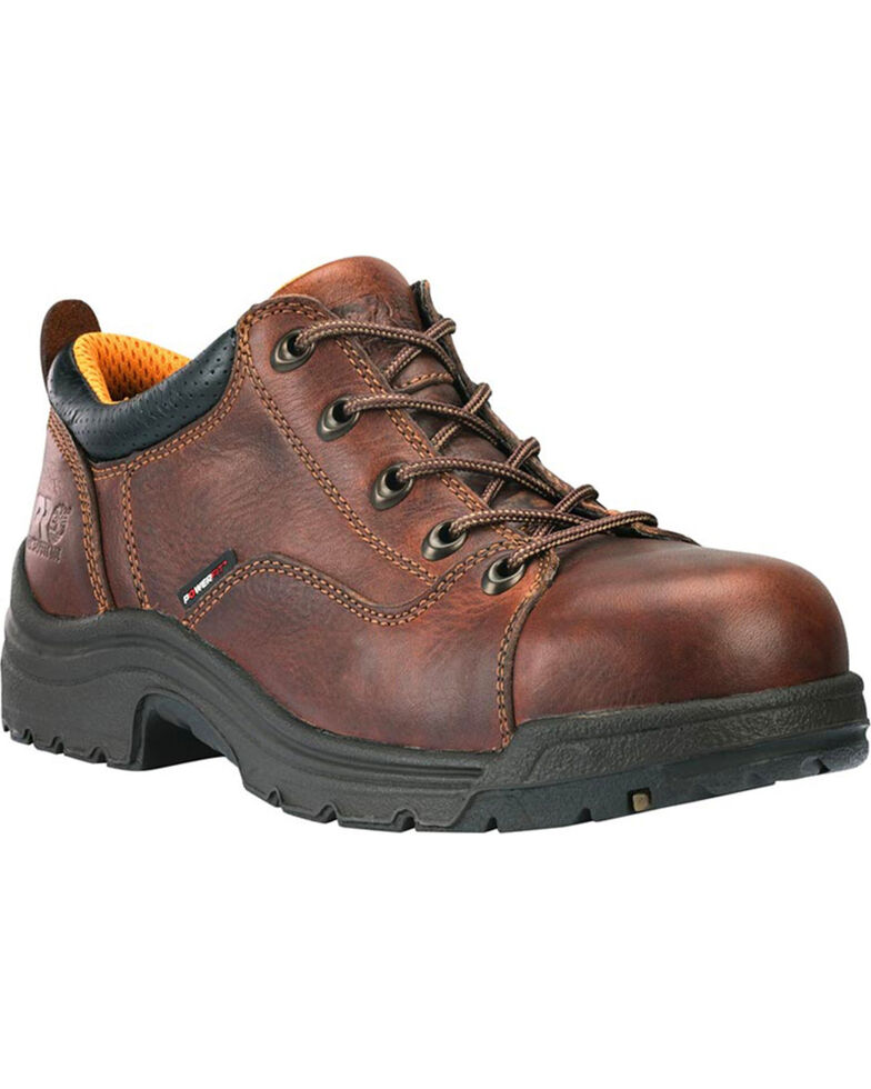 Timberland Pro Women's Titan Oxford Work Shoes - Alloy Toe, Brown, hi-res