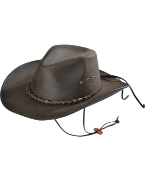 Outback Unisex Bootlegger Hat, Brown, hi-res