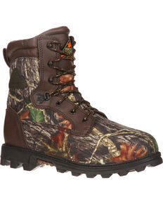 Rocky Children's Insulated BearClaw 3D Hiking and Hunting Boots, Camouflage, hi-res