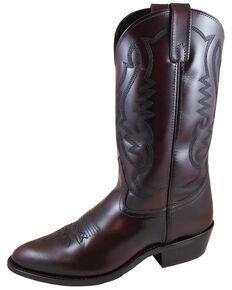 Smoky Mountain Men's Denver Cherry Western Boots - Medium Toe, Black Cherry, hi-res