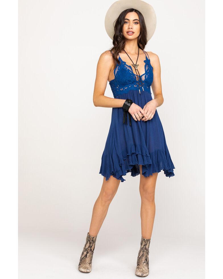 Free People Women's Adella Slip Dress, Blue, hi-res