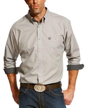 Ariat Men's Thrive Printed Long Sleeve Western Shirt , Black, hi-res