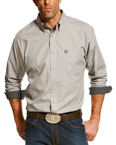 Ariat Men's Thrive Printed Long Sleeve Western Shirt , Black, hi-res