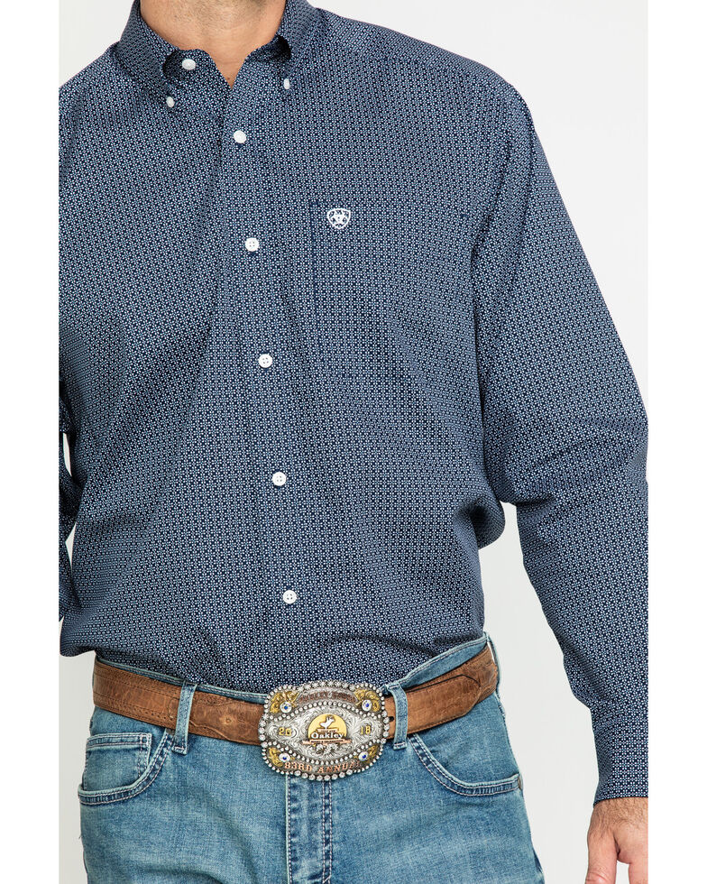 Ariat Men's Wrinkle Free Merritt Small Geo Print Long Sleeve Western Shirt - Big , Multi, hi-res