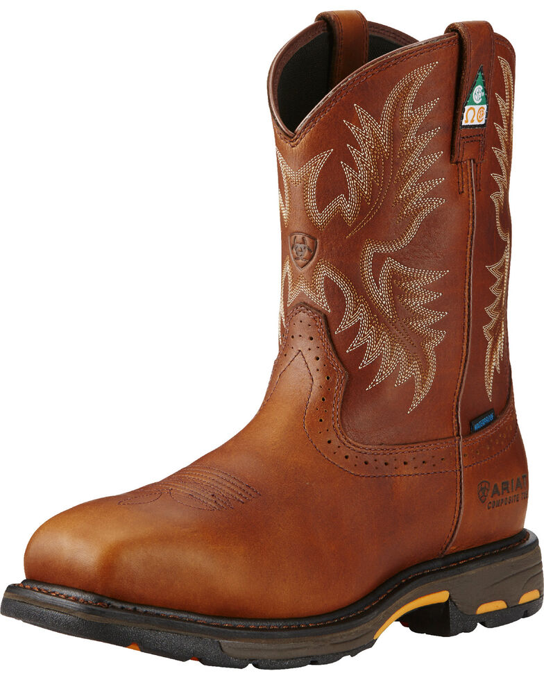Ariat Men's WorkHog H2O CSA Work Boots, Copper, hi-res