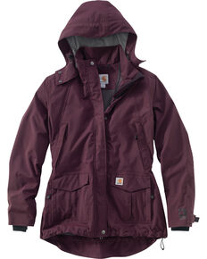 Carhartt Women's Shoreline Work Jacket, Wine, hi-res