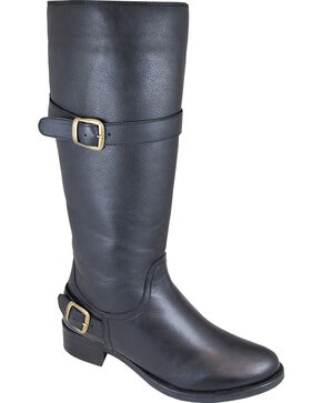 Smoky Mountain Donna Black Tall Riding Boots - Round Toe, Black, hi-res