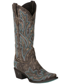 Lane Women's Saratoga Western Boots - Snip Toe, Brown, hi-res