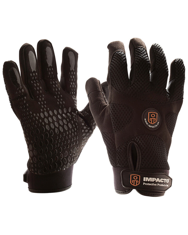 Impacto Anti-Vibration Mechanic's Air Gloves - Medium , Black, hi-res