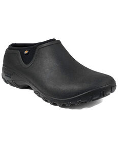 Bogs Women's Black Sauvie Clog Shoes - Round Toe, Black, hi-res