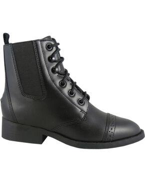 Smoky Mountain Youth Paddock Boots, Black, hi-res