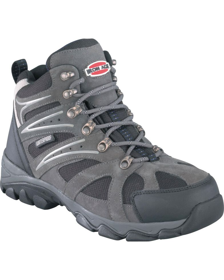 Iron Age Men's Surveyor Hiker Boots - Steel Toe, Grey, hi-res