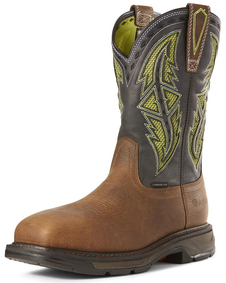 Ariat Men's Workhog XT VentTEK Western Work Boots - Composite Toe, Brown, hi-res