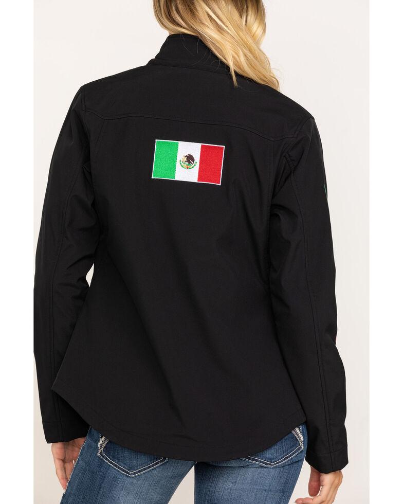 Ariat Women's Mexican Flag Team Softshell Jacket, Black, hi-res