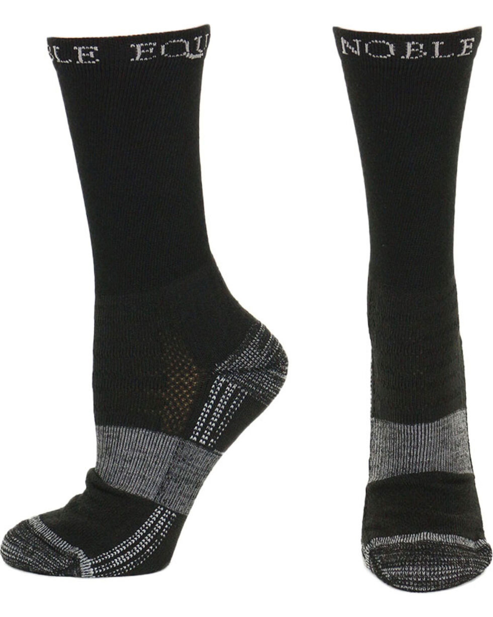 Noble Equine Men's Best Dang Crew Socks, Black, hi-res