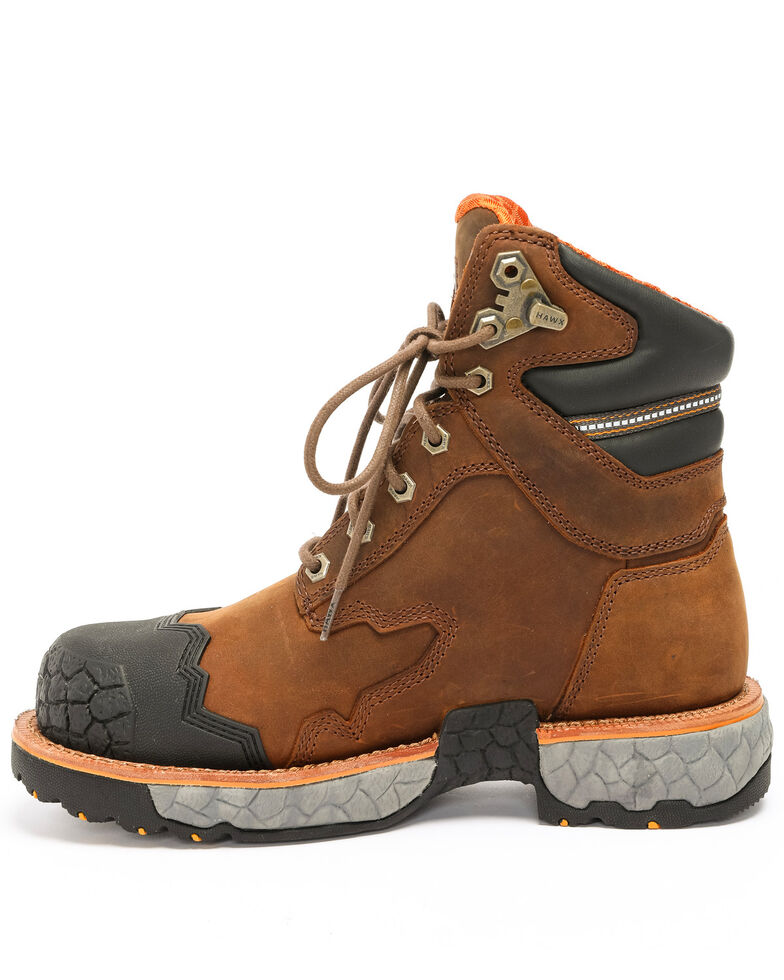 Hawx Men's Legion Work Boots - Steel Toe, Brown, hi-res