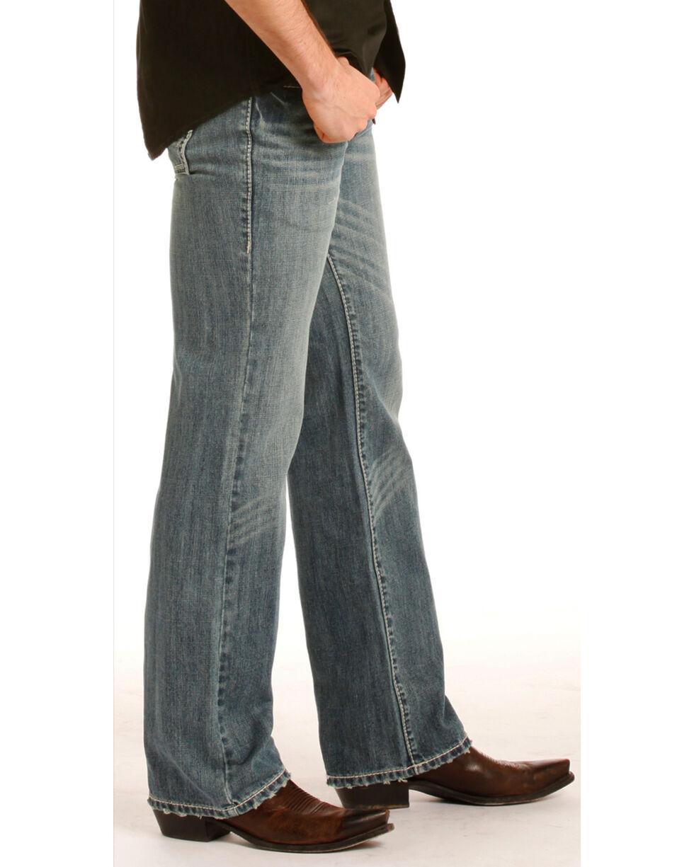 Rock & Roll Cowboy Men's Pistol Medium Wash Jeans - Straight Leg, Indigo, hi-res