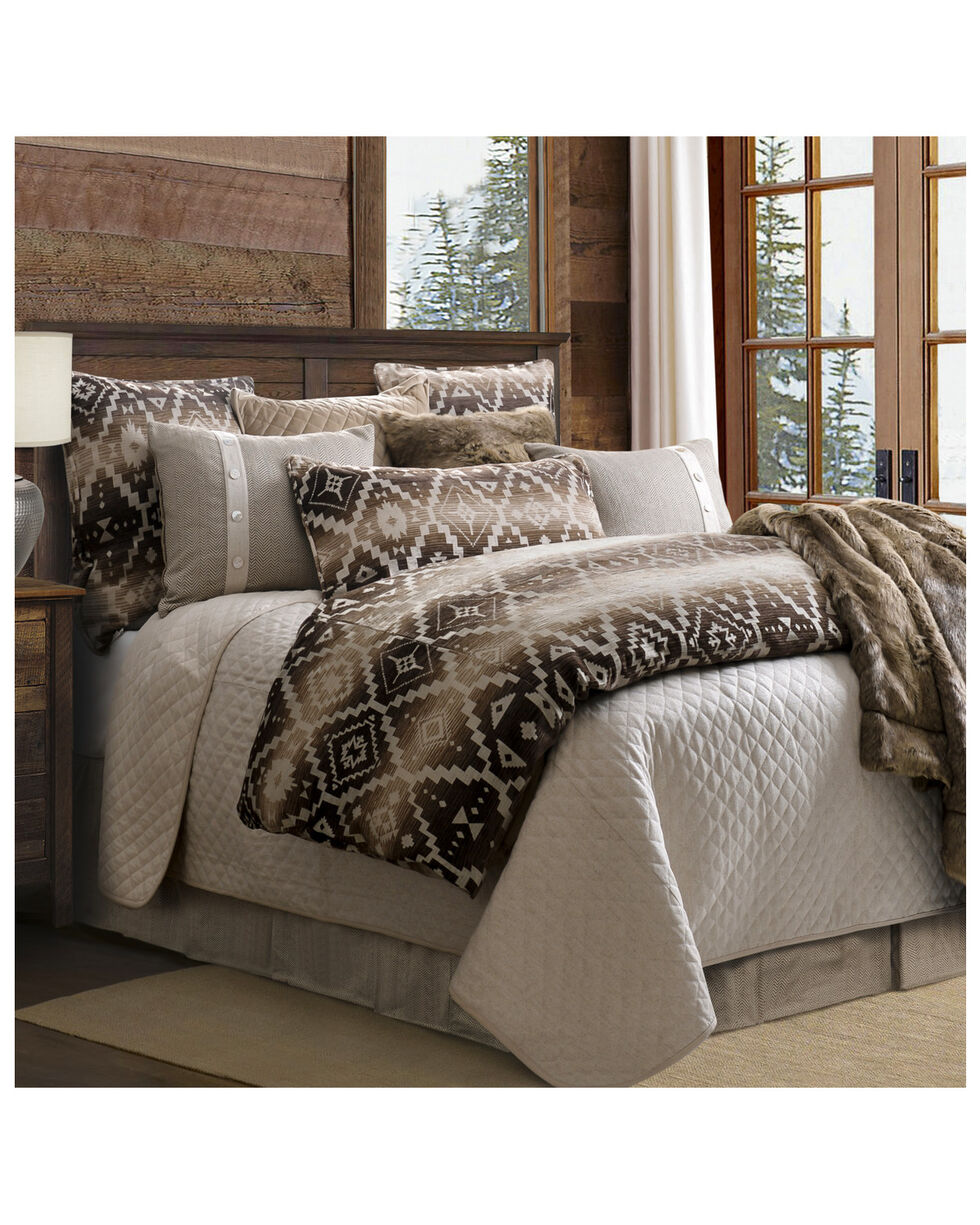 HiEnd Accents Super King Chalet Aztec Comforter Set, Multi, hi-res