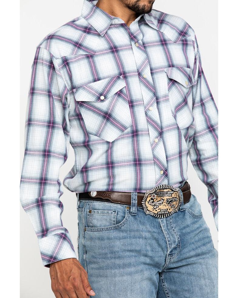 Resistol Men's White Indian Springs Large Plaid Long Sleeve Western Shirt , White, hi-res