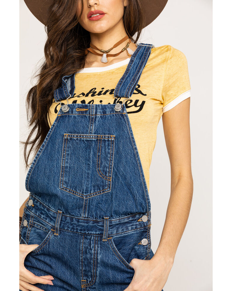 Levi's Women's Original Full Hand Overalls, Blue, hi-res