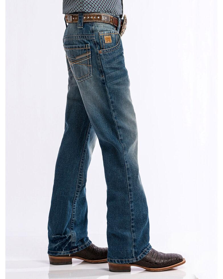 Cinch Boys' Medium Stonewash Relaxed Fit Bootcut Jeans (8-18), Indigo, hi-res