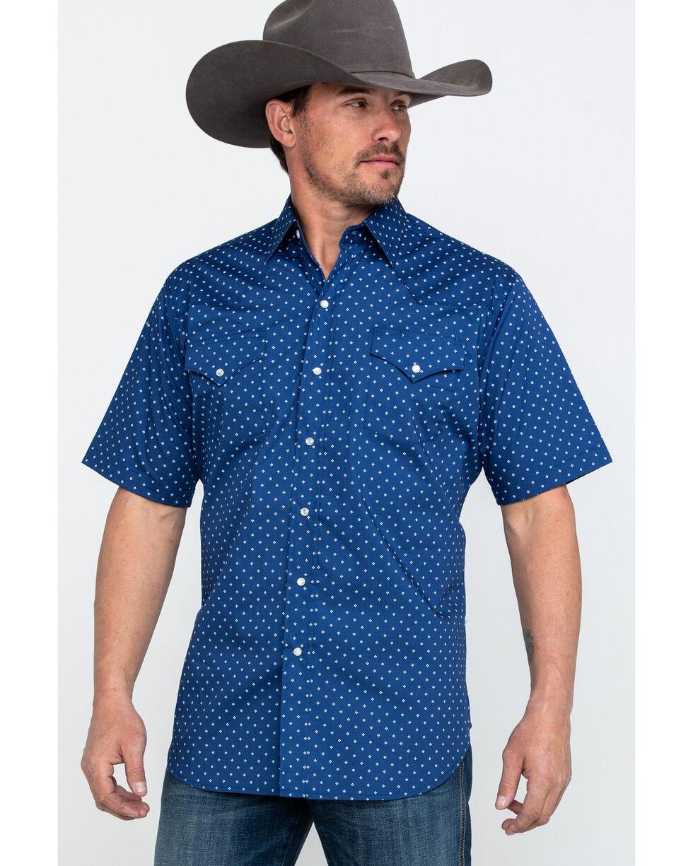 Ely Cattleman Men's Assorted Geo Print Short Sleeve Western Shirt , Multi, hi-res