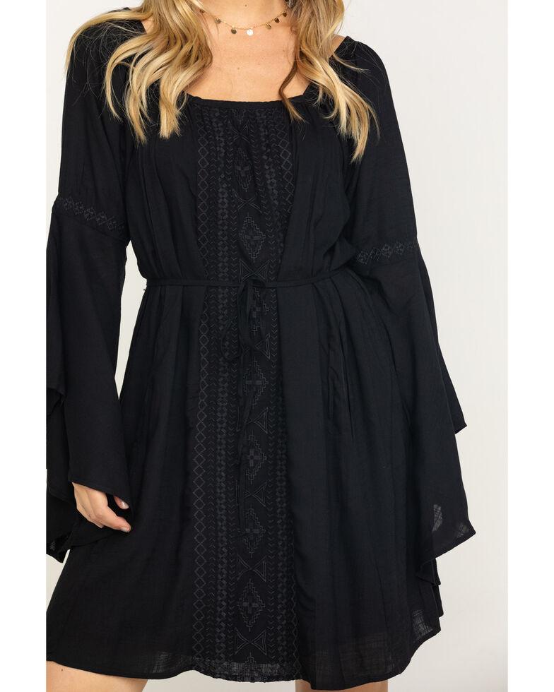 Ariat Women's Amal Bell Sleeve Dress, Black, hi-res
