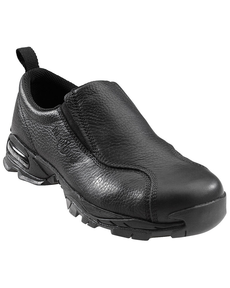 Nautilus Men's Slip-On Steel Toe ESD Work Shoes, Black, hi-res