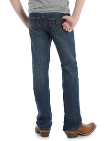Wrangler Retro Boys' Red River Dark Slim Straight Jeans , Blue, hi-res