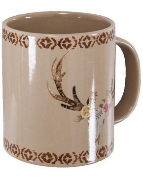 HiEnd Accents Skull And Floral Mug Set, Tan, hi-res