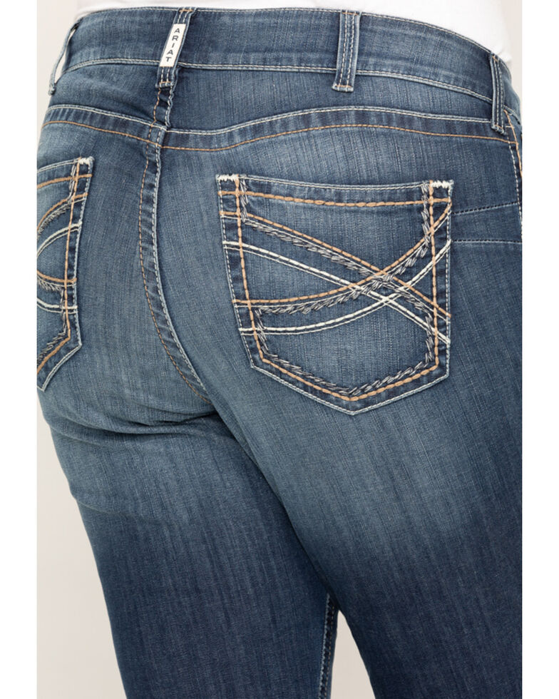 Ariat Women's Festival Blue R.E.A.L. Stretch Entwined Boocut Jeans - Plus, Blue, hi-res