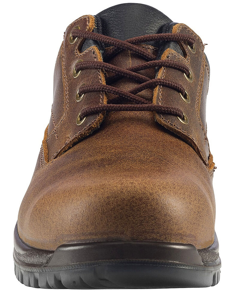Avenger Men's Slip Resistant Oxford Work Shoes - Composite Toe, Brown, hi-res