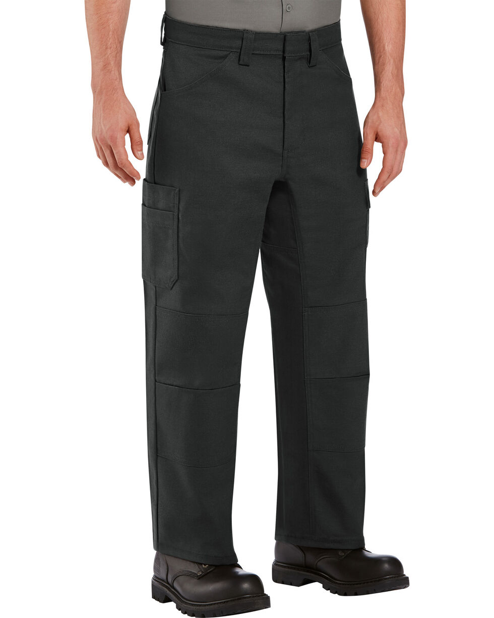 Red Kap Men's Black Performance Shop Pants , Black, hi-res